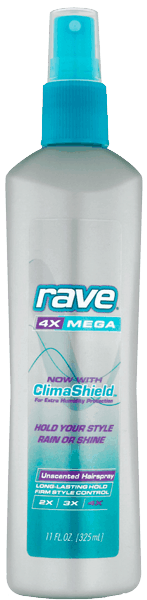 $0.25 for Rave® Non-Aerosol Hairspray (expiring on Monday, 04/03/2017). Offer available at multiple stores.