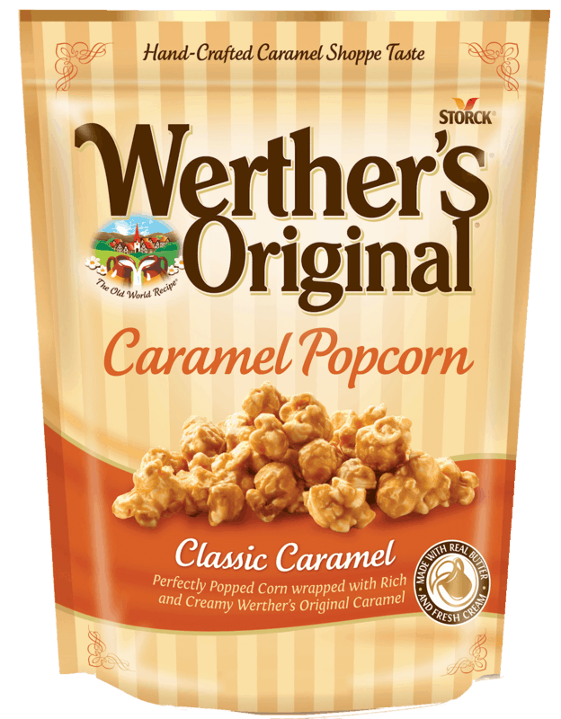 $1.00 for Werther's® Original® Caramel Popcorn. Offer available at multiple stores.
