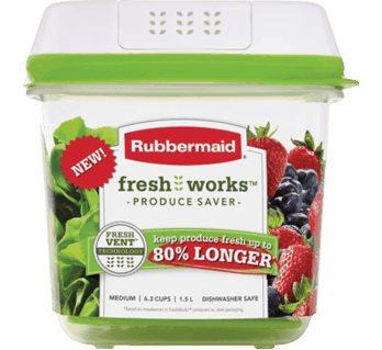 $2.00 for Rubbermaid® FreshWorks™ Produce Saver (expiring on Sunday, 01/07/2018). Offer available at multiple stores.
