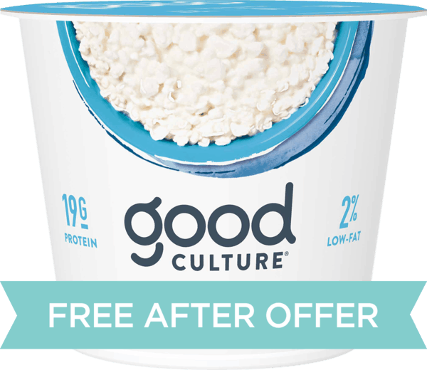 $1.66 for Good Culture® Cottage Cheese. Offer available at Publix.