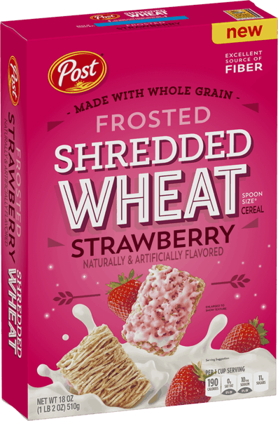 $1.00 for Post® Frosted Shredded Wheat Strawberry (expiring on Saturday, 02/02/2019). Offer available at Walmart.