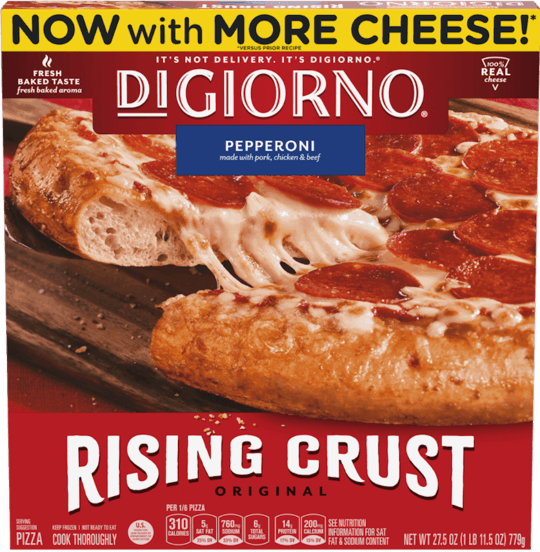 $0.75 for DiGiorno Rising Crust Original Pizza (expiring on Sunday, 08/02/2020). Offer available at Walmart.