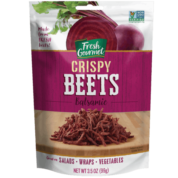 $0.75 for Fresh Gourmet® Balsamic Crispy Beets (expiring on Sunday, 06/02/2019). Offer available at multiple stores.
