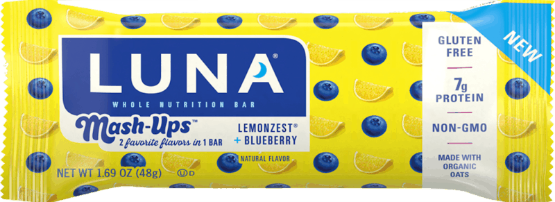 $0.50 for LUNA Mash-Ups (expiring on Monday, 08/31/2020). Offer available at multiple stores.