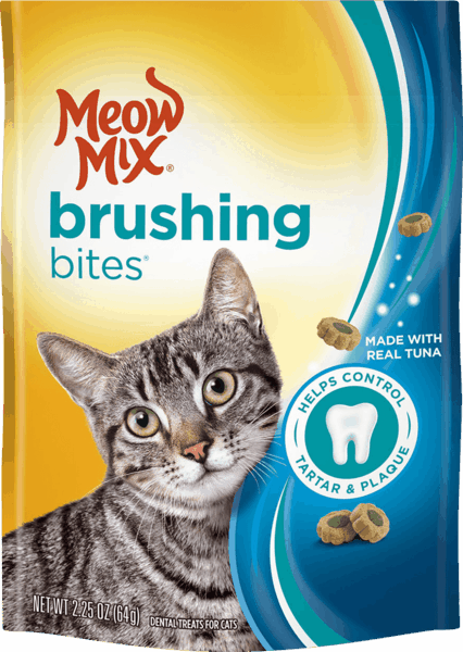 $0.25 for Meow Mix® Brushing Bites® Dental Treats. Offer available at Walmart.