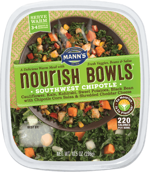 $0.50 for Mann's Nourish Bowls® (expiring on Saturday, 11/02/2019). Offer available at multiple stores.