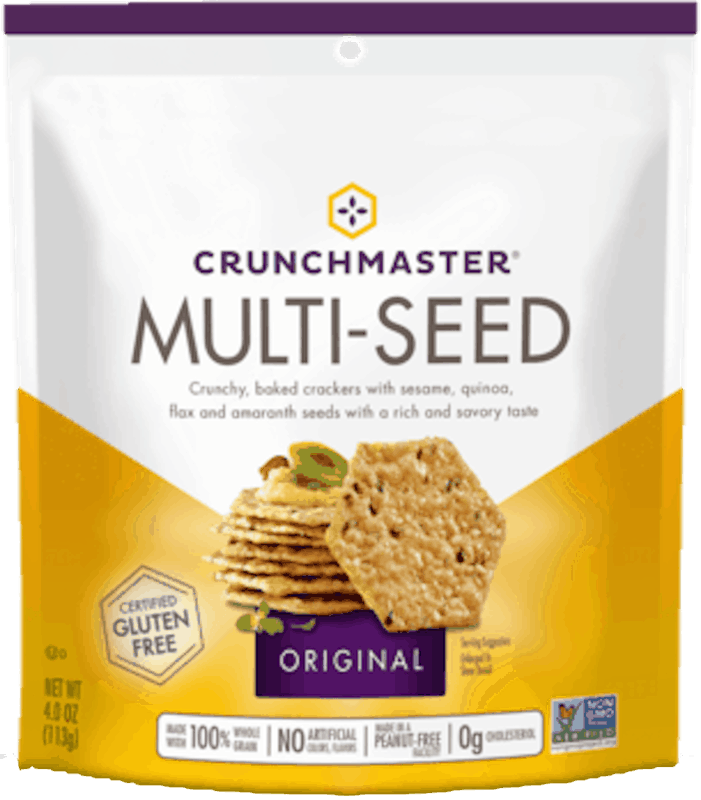 $2.00 for CRUNCHMASTER Crackers and Snacks (expiring on Monday, 03/15/2021). Offer available at multiple stores.