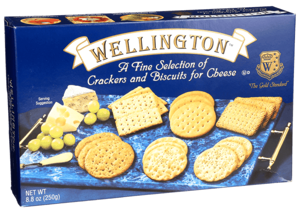 $1.50 for Wellington® Cracker Assortment Box (expiring on Sunday, 09/02/2018). Offer available at multiple stores.