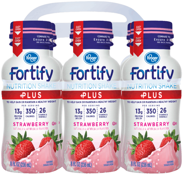 $1.00 for Kroger® Fortify Plus Nutrition Shakes (expiring on Wednesday, 01/02/2019). Offer available at Kroger.