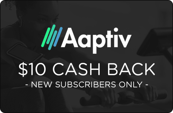 $10.00 for Aaptiv (expiring on Wednesday, 10/31/2018). Offer available at Aaptiv.