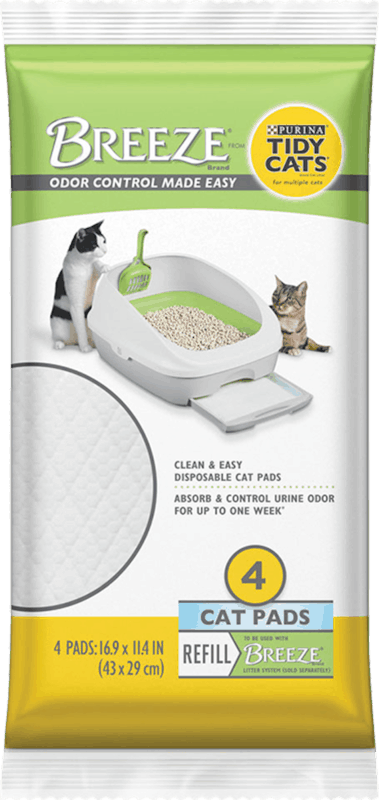 $1.50 for Purina Tidy Cats Breeze Cat Pad Refill Pack (expiring on Monday, 08/31/2020). Offer available at Meijer, H-E-B, PetSmart.