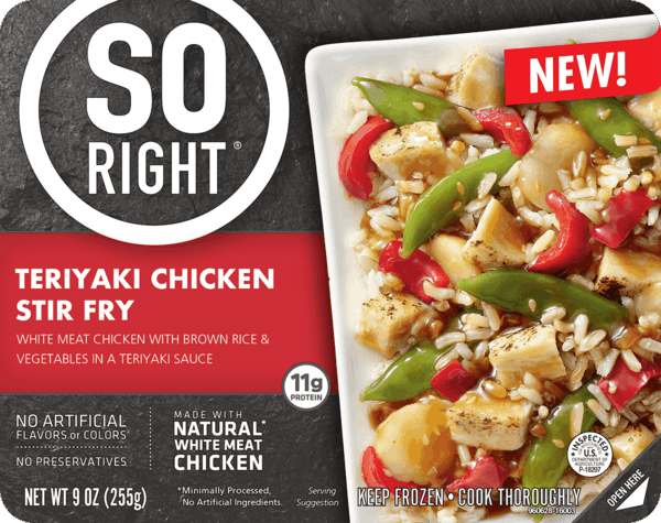 $0.50 for SO RIGHT® Frozen Meals (expiring on Monday, 01/01/2018). Offer available at multiple stores.