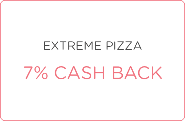$0.00 for 7% cash back at Extreme Pizza - Denver (expiring on Thursday, 06/29/2017). Offer available at Extreme Pizza - Denver.