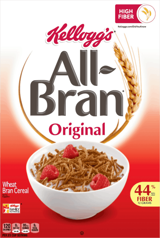 $0.50 for Kellogg's All-Bran Cereal. Offer available at multiple stores.