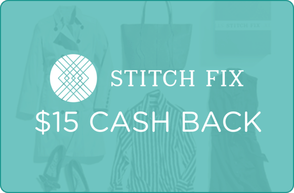 $15.00 for Stitch Fix (expiring on Wednesday, 04/01/2020). Offer available at Stitch Fix.