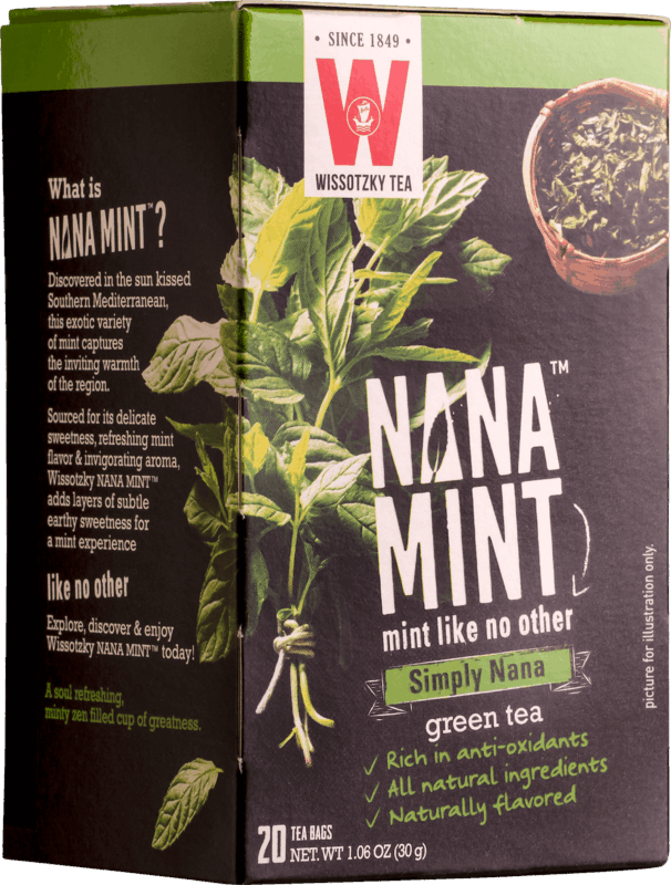$1.00 for Wissotzky Nana Mint Tea (expiring on Saturday, 10/31/2020). Offer available at ShopRite, Weis Markets.