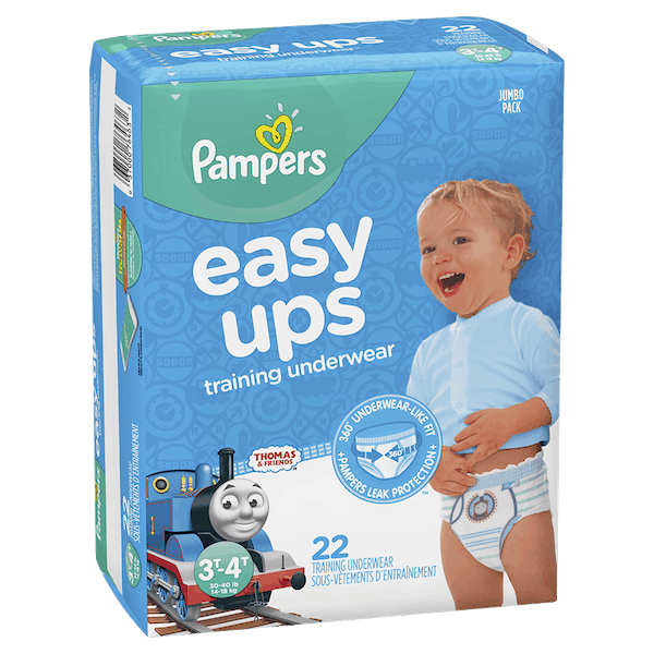 $3.00 for Pampers® Easy Ups Training Underwear. Offer available at multiple stores.