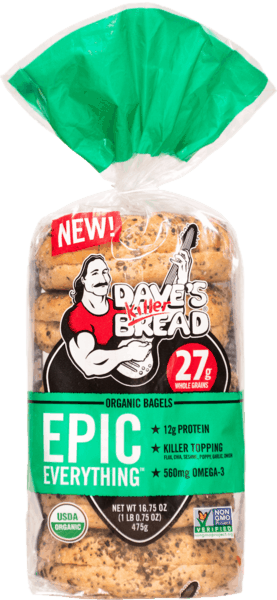 $1.00 for Dave's Killer Bread® Bagels (expiring on Friday, 08/02/2019). Offer available at multiple stores.