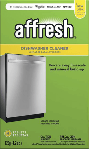 $1.00 for Affresh® Dishwasher Cleaner. Offer available at Home Depot, Lowe's, Bed Bath & Beyond.