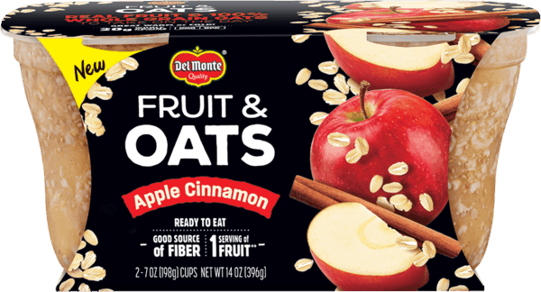 $0.75 for Del Monte® Fruit & Oats (expiring on Sunday, 03/17/2019). Offer available at multiple stores.