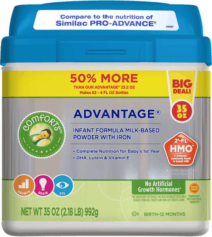 $6.00 for Comforts Advantage Infant Formula. Offer available at multiple stores.