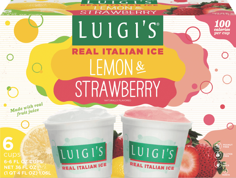 $0.75 for LUIGI'S Real Italian Ice (expiring on Tuesday, 09/01/2020). Offer available at multiple stores.