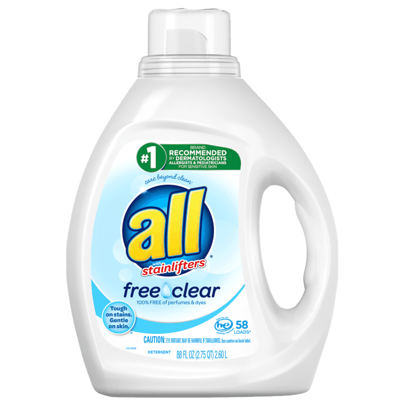 $2.00 for all® Liquid or Mighty Pac Laundry Detergent. Offer available at multiple stores.