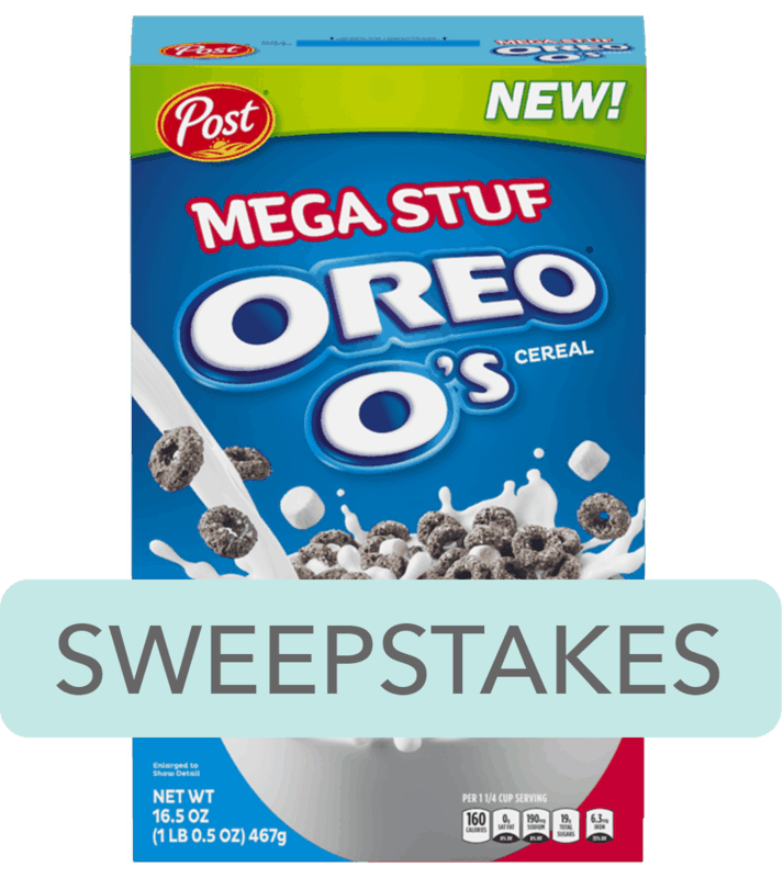 $0.25 for Post® MEGA STUF™ OREO O's® Cereal (expiring on Saturday, 02/08/2020). Offer available at Walmart.