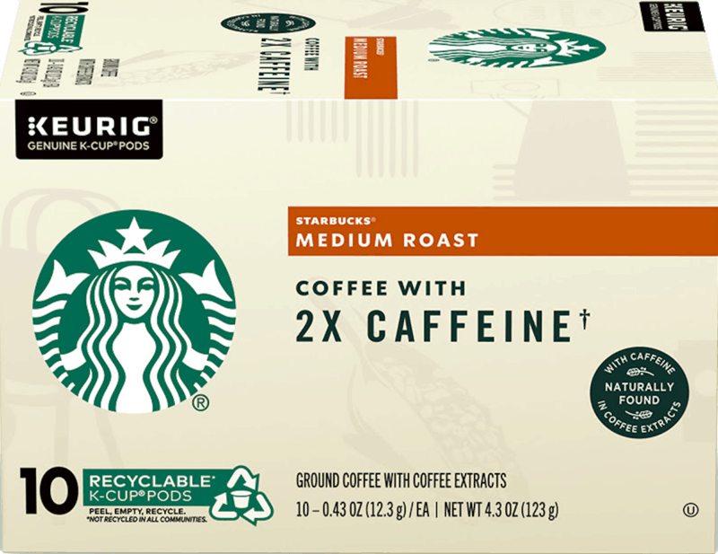 $2.00 for Starbucks K-Cup Pods with 2x Caffeine (expiring on Wednesday, 09/02/2020). Offer available at multiple stores.