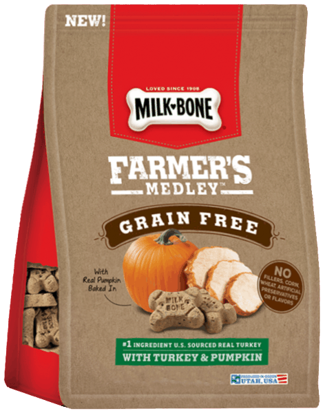 $1.00 for Milk-Bone® Farmer's Medley™ Dog Treats (expiring on Tuesday, 04/25/2017). Offer available at multiple stores.