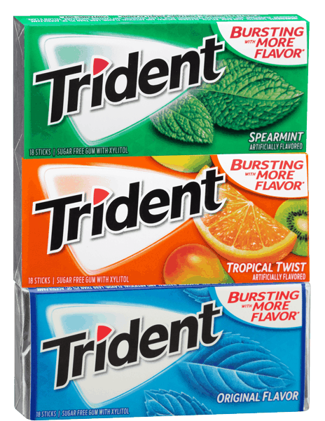 graphic about Trident Coupons Printable titled $1.50 for TRIDENT Gum. Offer you obtainable at numerous outlets