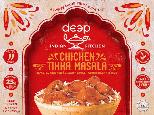 $0.75 for Deep Indian Kitchen® Frozen Entrees (expiring on Tuesday, 06/02/2020). Offer available at multiple stores.