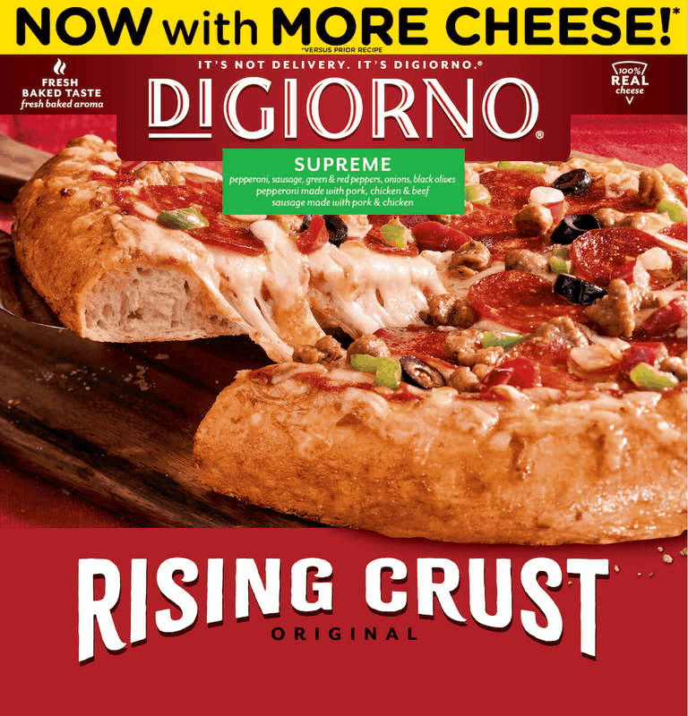 $1.50 for DiGiorno Rising Crust Pizza. Offer available at Target, Walmart.