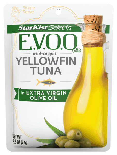 $0.25 for StarKist Selects E.V.O.O® Single Serve Cans and Pouches (expiring on Monday, 12/31/2018). Offer available at multiple stores.