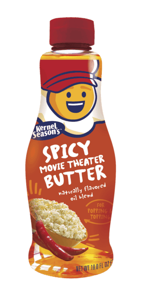 $1.00 for Kernel Season's® Spicy Movie Theater Butter (expiring on Friday, 08/02/2019). Offer available at Walmart.