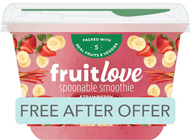 $1.99 for Fruitlove™ spoonable smoothie. Offer available at multiple stores.