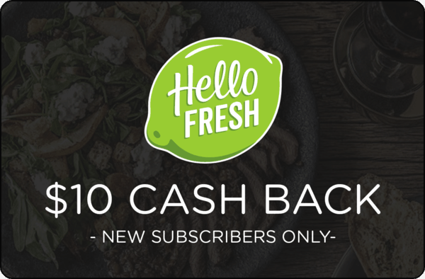 $10.00 for HelloFresh (expiring on Wednesday, 01/01/2020). Offer available at HelloFresh.