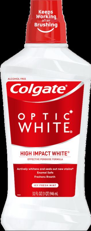 $2.00 for Colgate® Optic White® Mouthwash (expiring on Sunday, 02/02/2020). Offer available at Walmart.