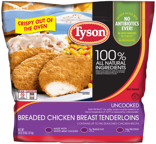 $3.00 for Tyson® Breaded Chicken Breast Tenderloins. Offer available at Sam's Club.