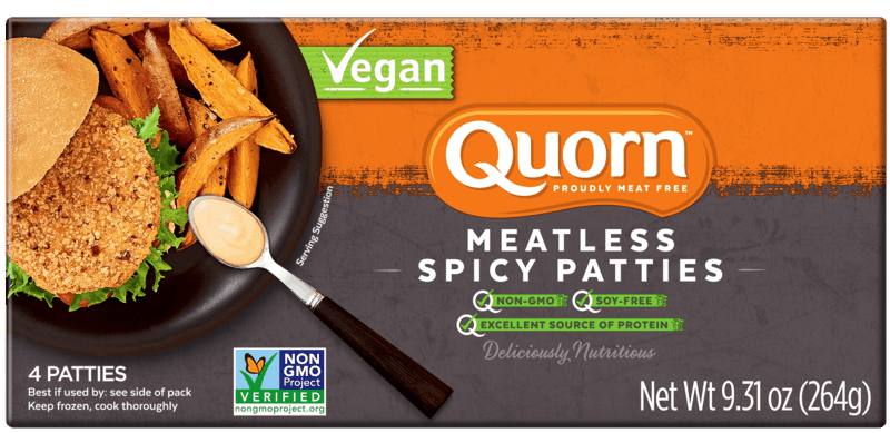 $2.50 for Quorn™ Meatless Vegan Spicy Patties. Offer available at Publix.