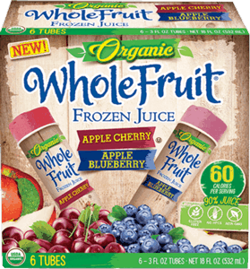 $1.00 for Whole Fruit® Organic Frozen Juice Tubes. Offer available at multiple stores.