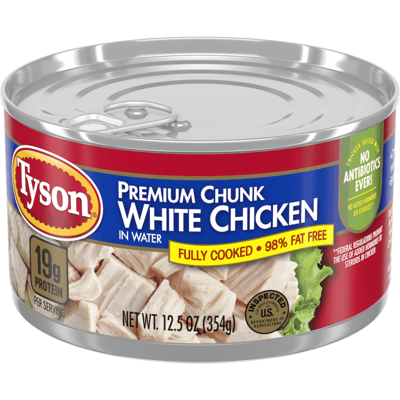 $0.50 for Tyson® Premium Chunk Chicken. Offer available at Walmart.