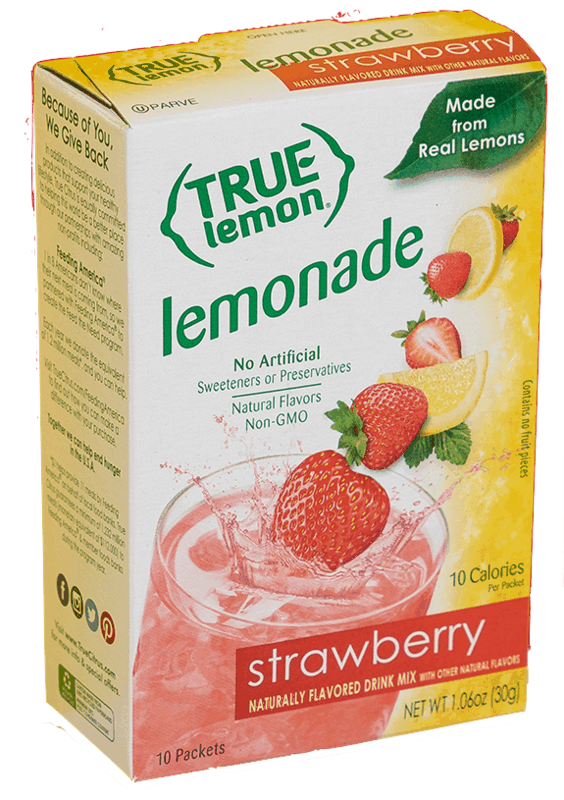 $0.40 for True Lemon. Offer available at Walmart, Walmart Grocery.