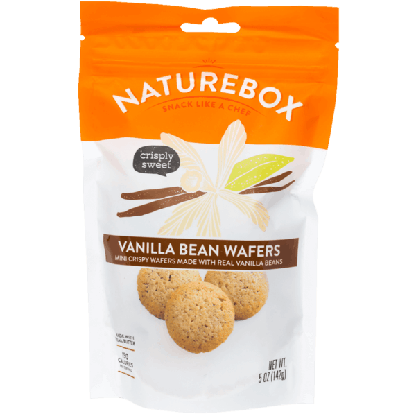 $1.00 for NatureBox™ Vanilla Bean Wafers (expiring on Monday, 10/16/2017). Offer available at Safeway, Sprouts Farmers Market.