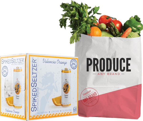 $2.00 for Spiked Seltzer® AND Produce or Seltzer Water (expiring on Wednesday, 05/09/2018). Offer available at multiple stores.