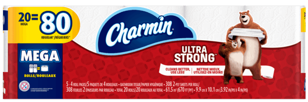 $0.50 for Charmin® Ultra Toilet Paper (expiring on Thursday, 08/02/2018). Offer available at Walmart.