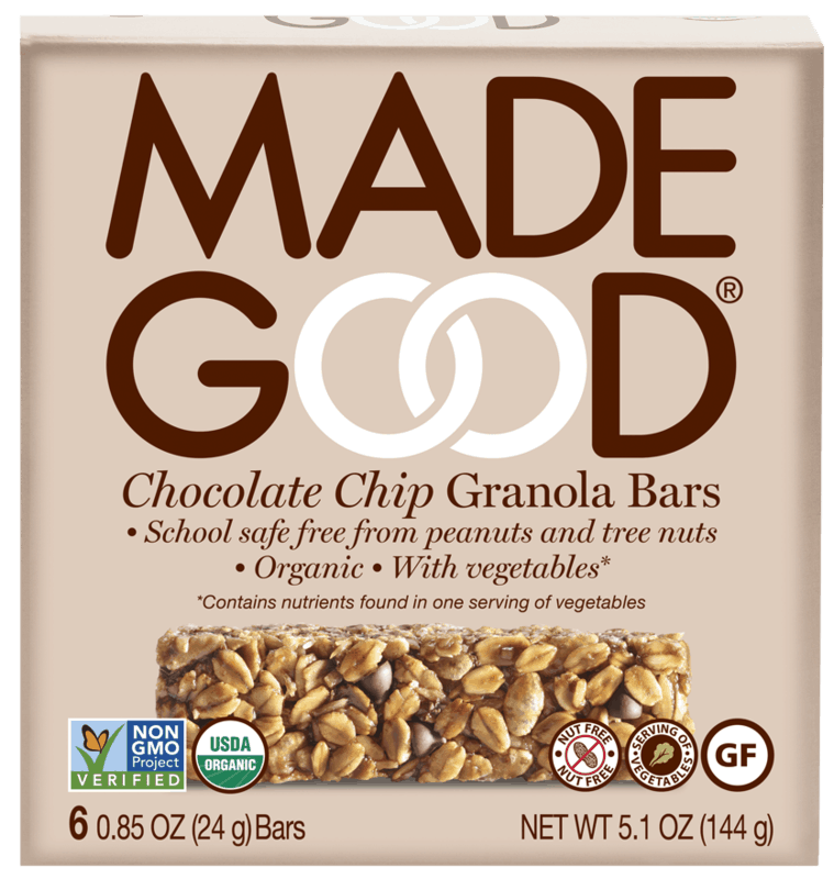 $1.00 for MadeGood Granola Bars (expiring on Sunday, 11/01/2020). Offer available at multiple stores.