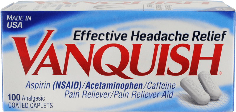 $2.00 for Vanquish® Headache Relief (expiring on Monday, 06/01/2020). Offer available at Walmart, Walgreens, Meijer, Walmart Grocery.