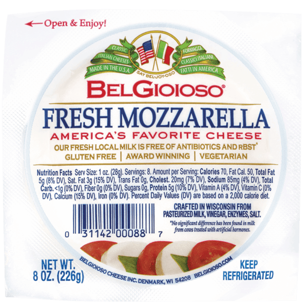 $0.75 for BelGioioso® Fresh Mozzarella (expiring on Sunday, 12/31/2017). Offer available at Walmart.