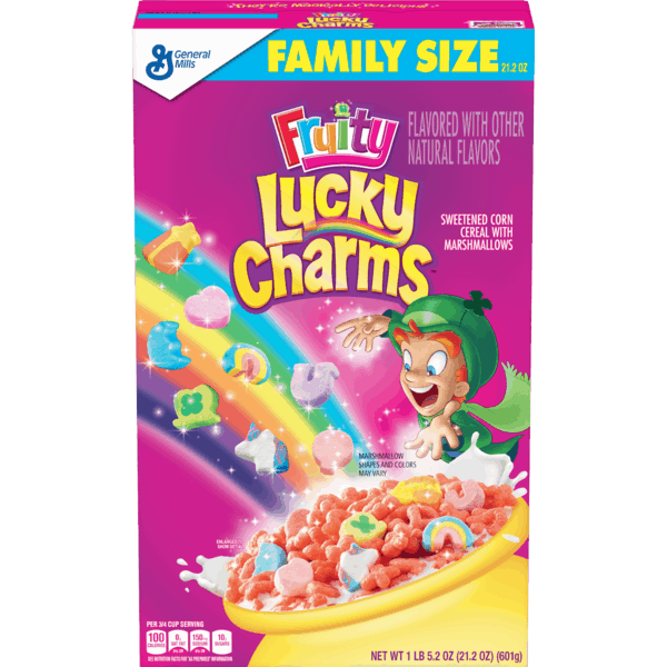 $0.75 for Fruity Lucky Charms™ (expiring on Friday, 08/02/2019). Offer available at Walmart.